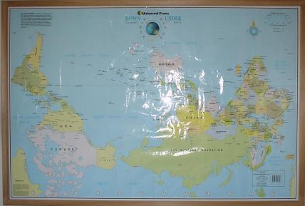 The upsidedown map page world maps with south at the top rotated and upsidedown world map gumiabroncs Image collections