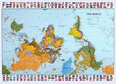 The Upsidedown Map Page World Maps With South At The Top - Australian map of the world
